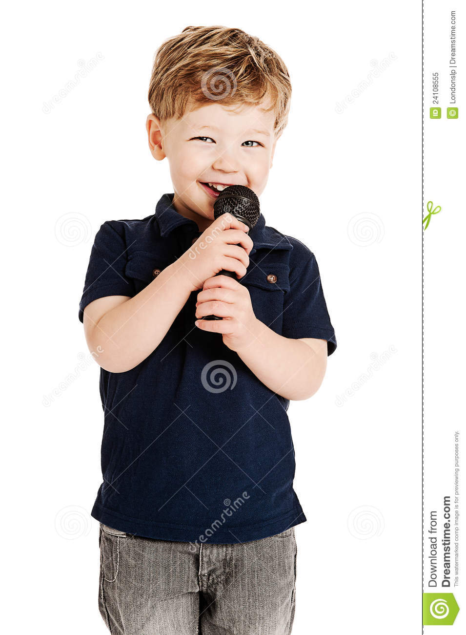 Infant Child Learning Center Cute Boy Singing Royalty Free Stock Photo Image 24108555