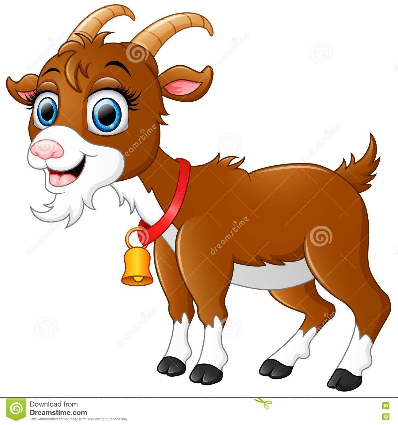 Cute Goat Clipart Cute Brown Goat Cartoon Stock Vector Image Of Creature
