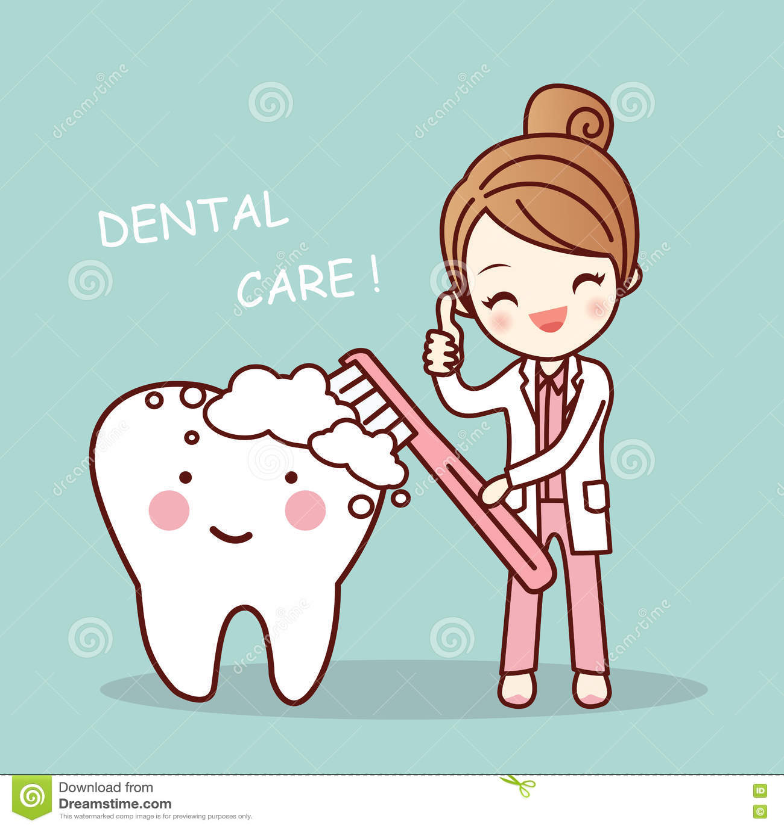 Cute Dental Wallpaper Cute Cartoon Dentist Brush Tooth Stock Vector