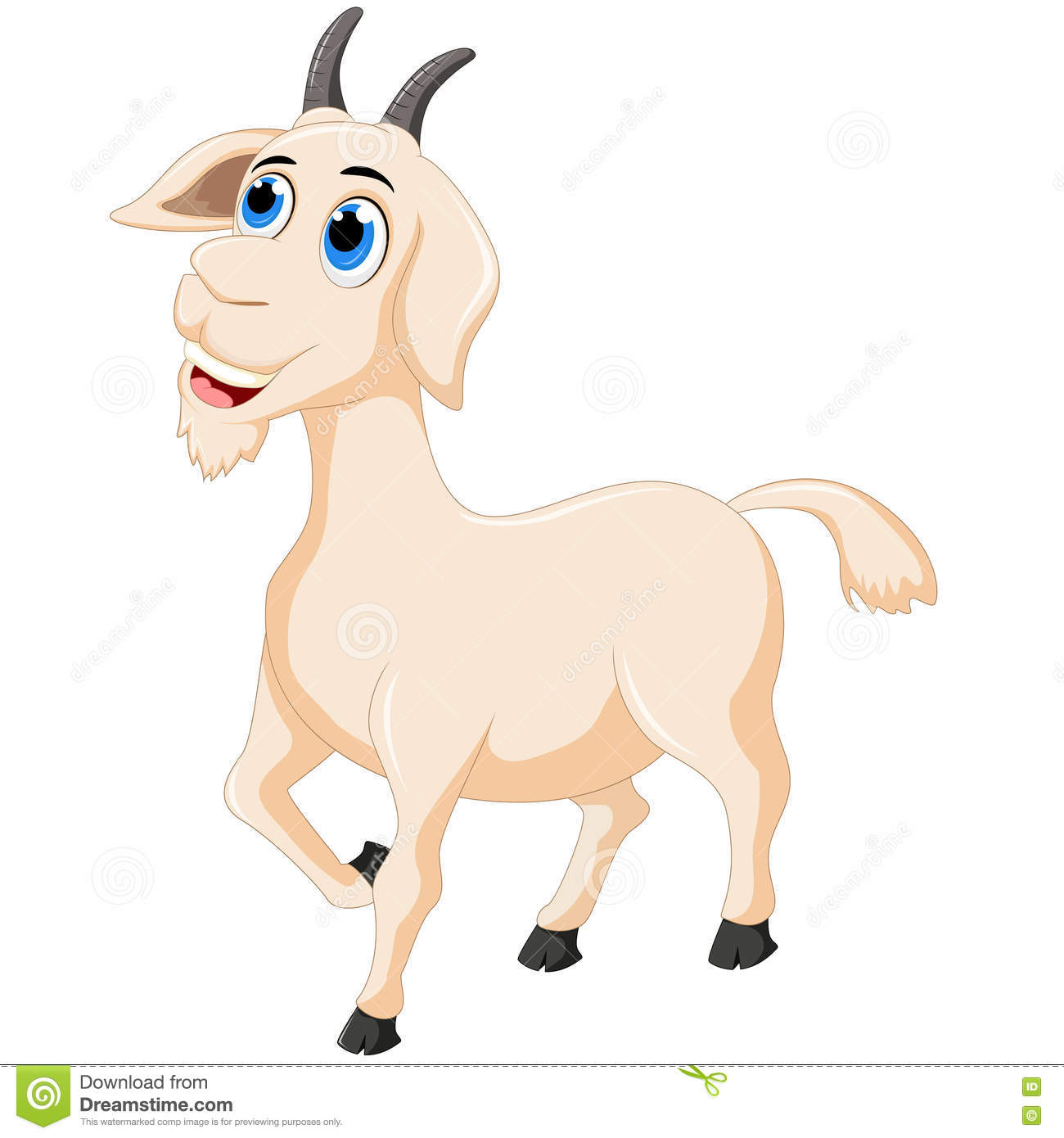 Cute Goat Clipart Cute Goat Cartoon Royalty Free Stock Photography