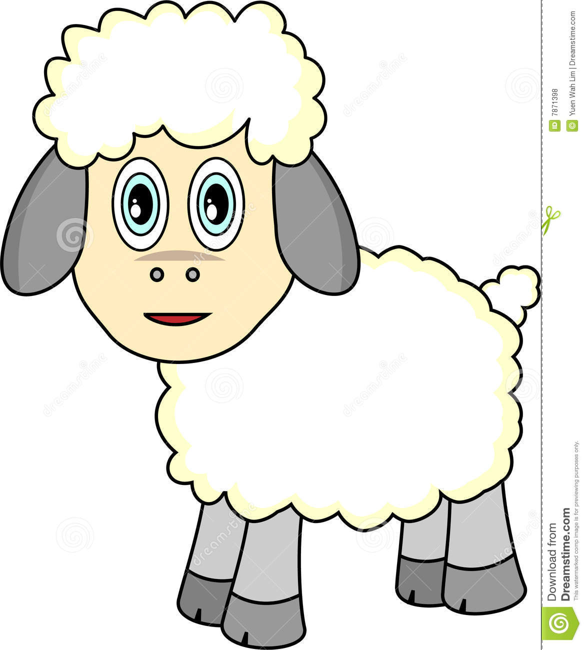 Cute Sheep Drawing Tumblr Cute Cartoon Sheep Stock Vector Illustration Of Clip