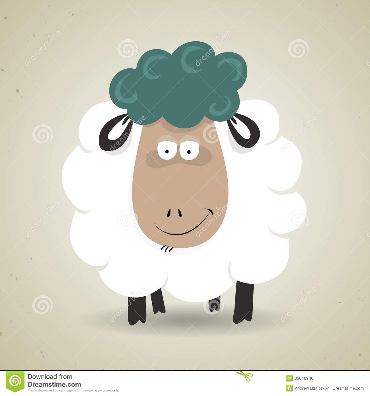 Cute Sheep Drawing Tumblr Cute Cartoon Smiling Sheep Standing Facing The Stock