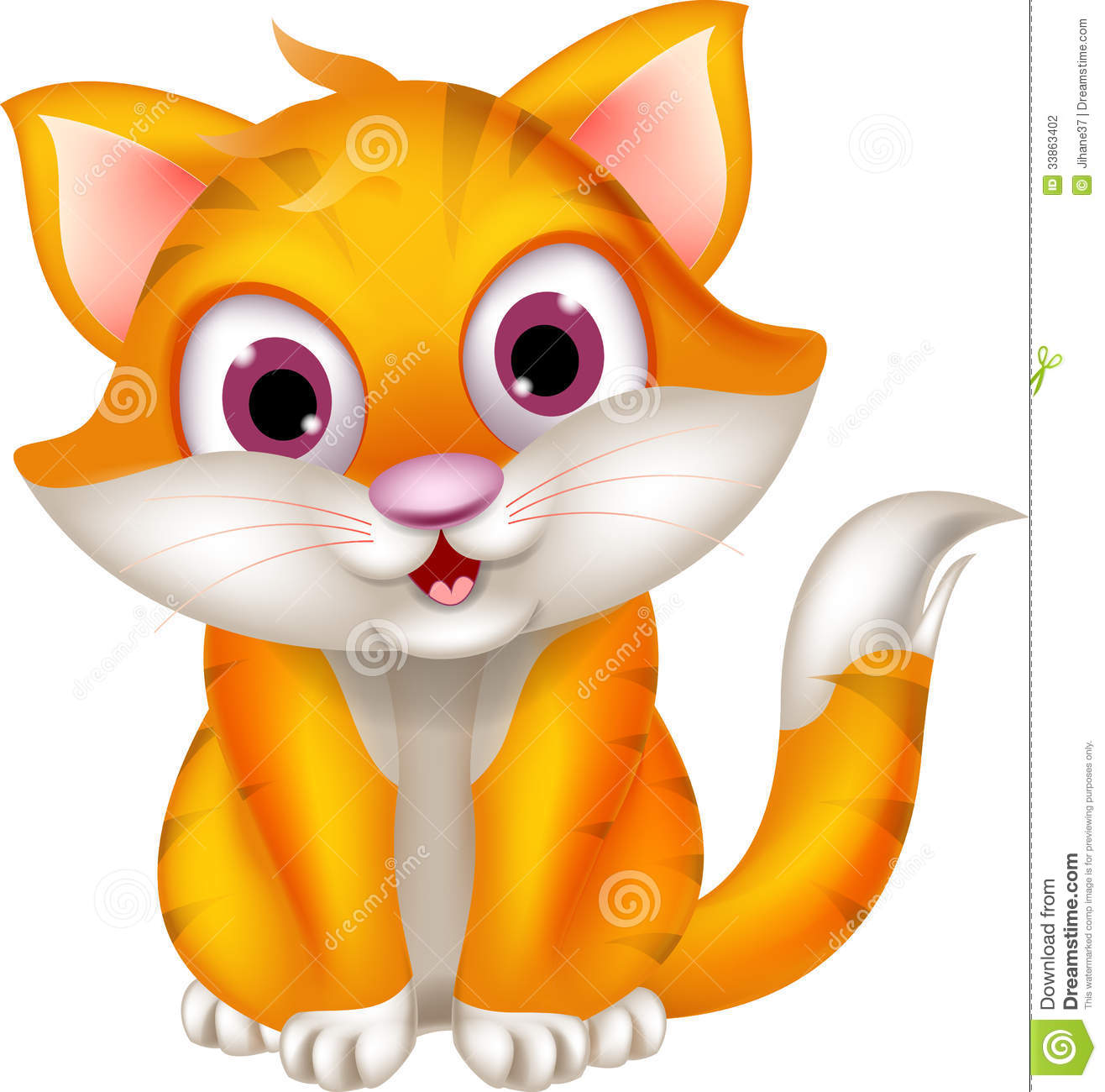 Cute Cats And Kittens Wallpaper Hd Cat Themes Cute Cat Cartoon Sitting Stock Photography Image 33863402
