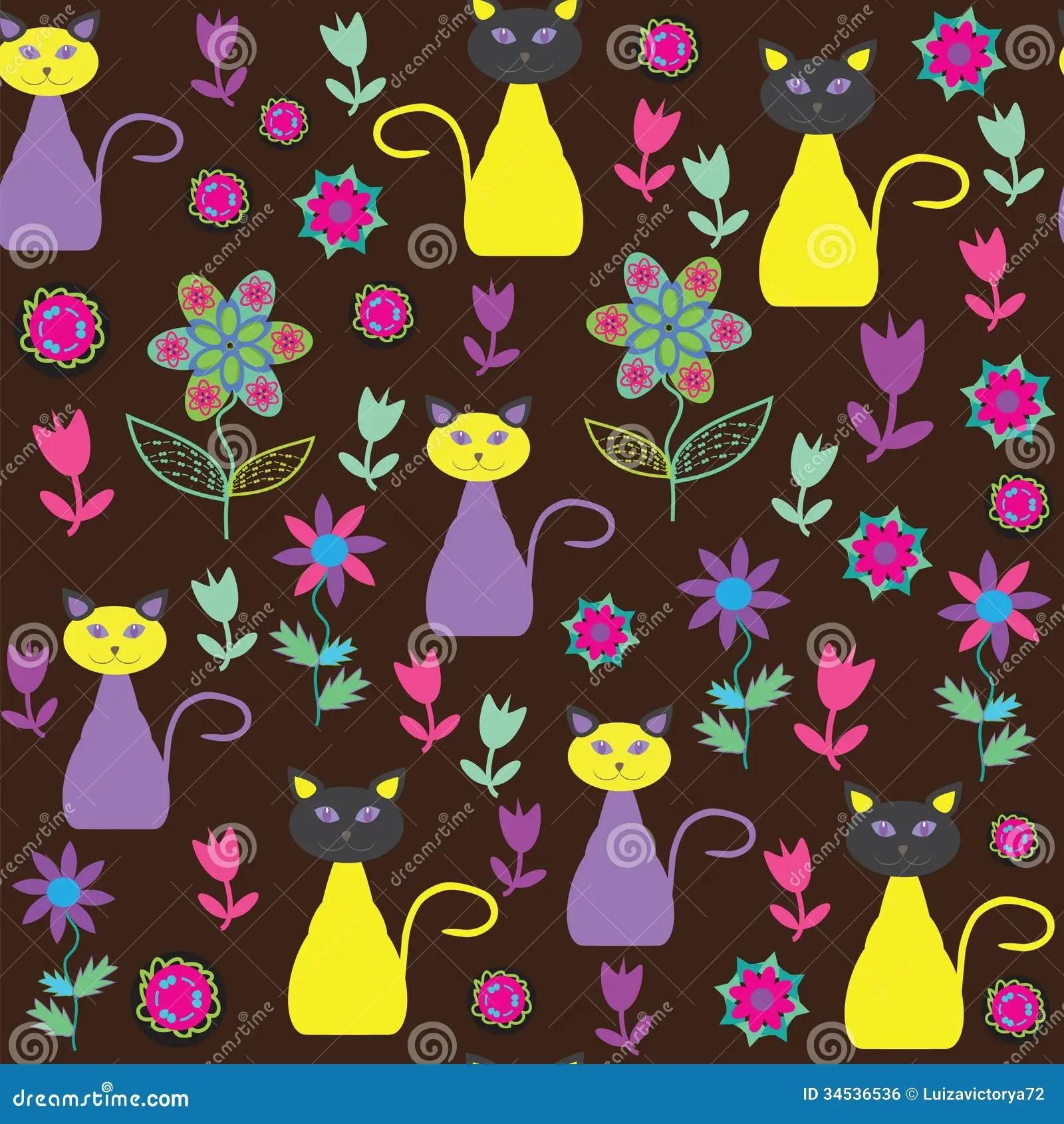 Cute Minnie Mouse Wallpaper Cute Cats Seamless Pattern Seamless Pattern Can B Stock
