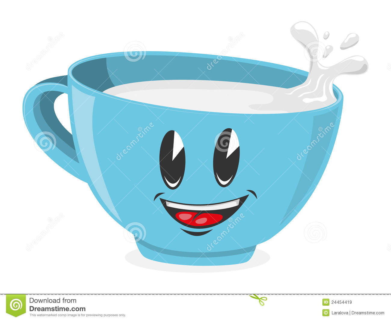 Cute Coffee Mug Wallpaper Cute Cup Of Milk Royalty Free Stock Images Image 24454419