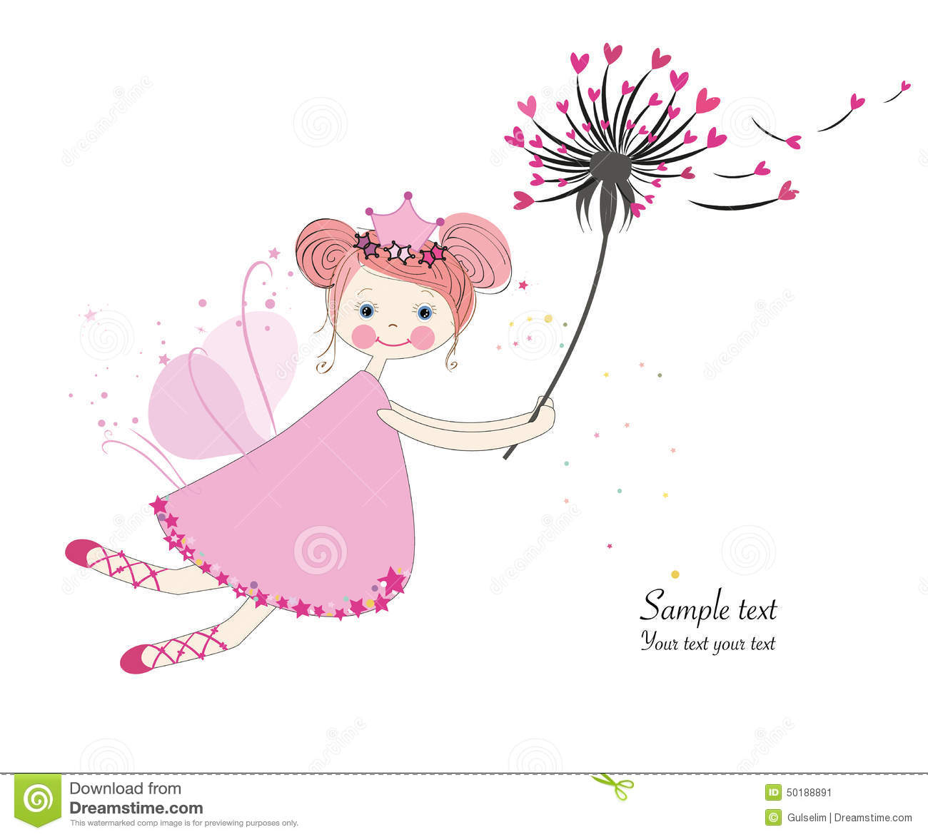 Wallpaper Download Cute Lovers Cute Fairytale With Dandelion Greeting Card Stock Vector