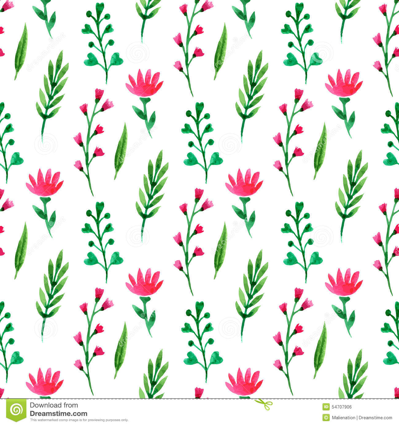 Cute Red Blue And Yellow Hd Graphic Flowers Wallpaper Cute Floral Seamless Pattern Summer Flowers Branches And