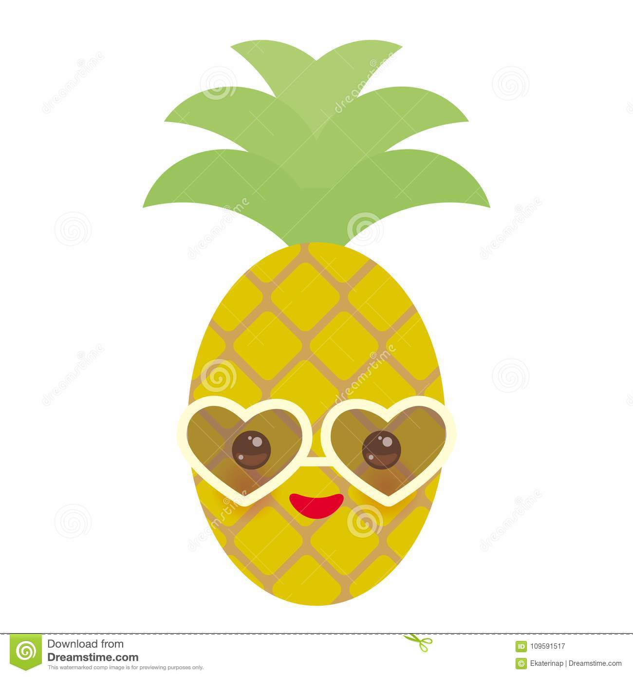 Pineapple With Sunglasses Tumblr Cute Funny Kawaii Exotic Fruit Pineapple With Sunglasses
