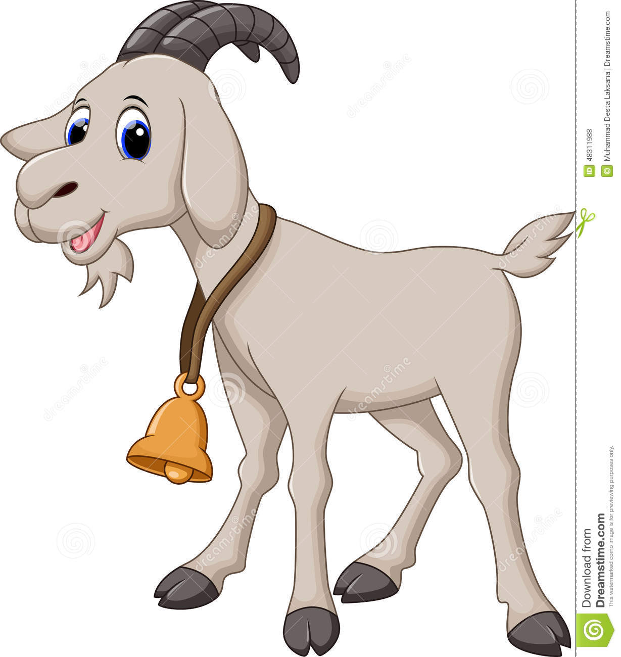 Cute Goat Clipart Cute Goat Cartoon Stock Illustration Illustration Of
