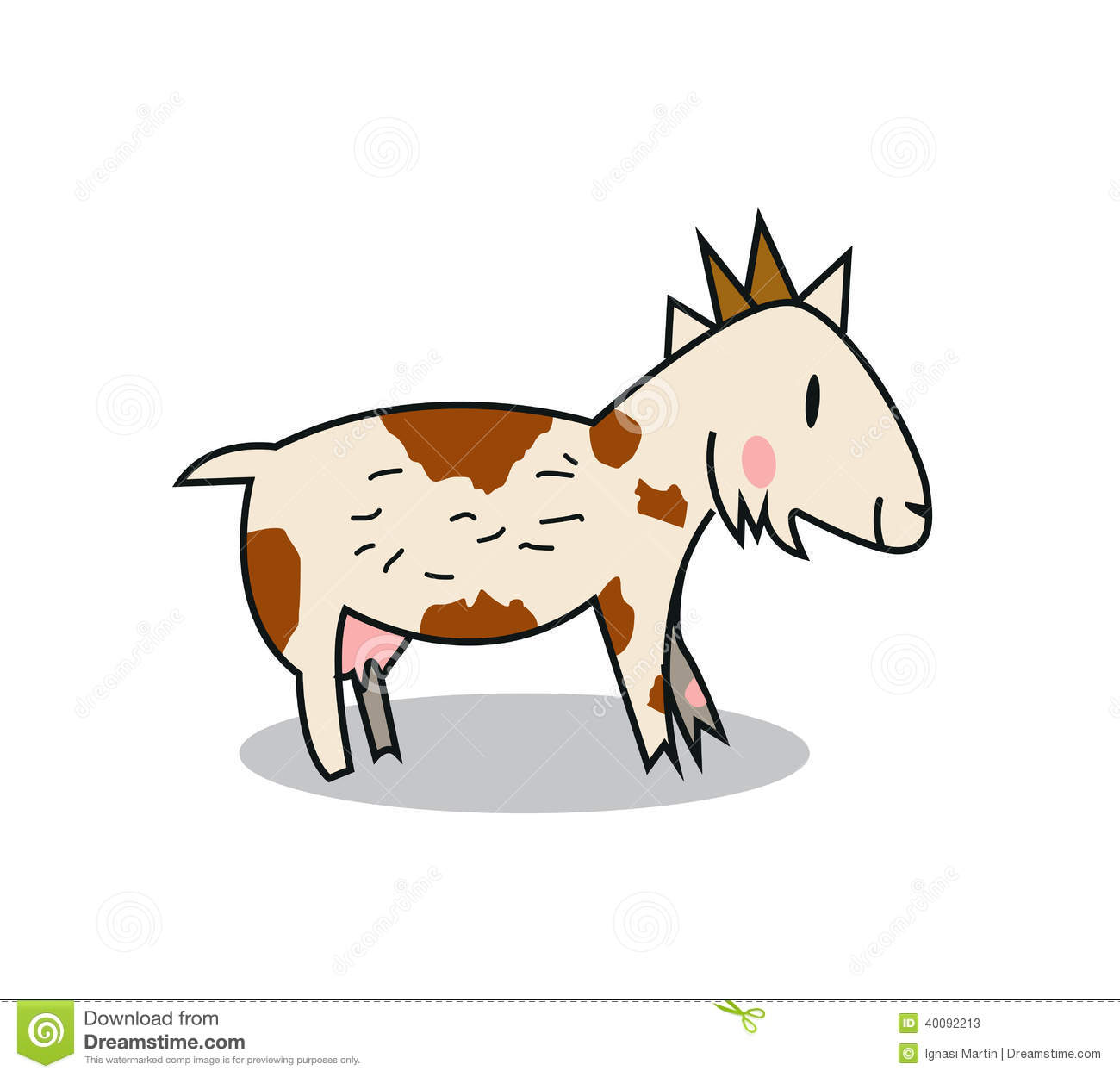 Cute Goat Clipart Cute Goat Stock Illustration Image 40092213
