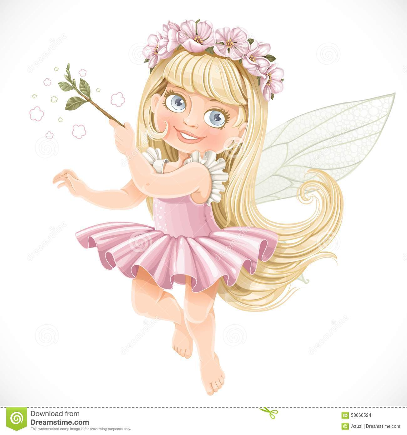 Cute Little Fairy Wallpapers Cute Little Spring Fairy Girl In A Pink Tutu With A Magic