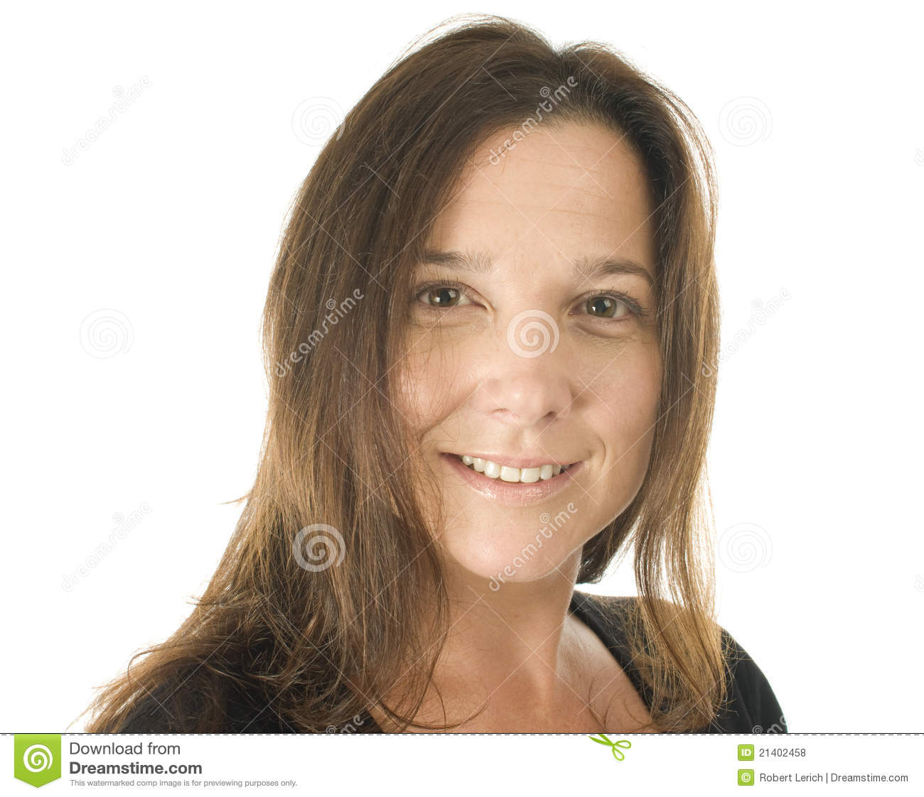 Beautiful Expersion Girl Wallpapers Cute Middle Age Woman Head Shot Studio Portrait Royalty
