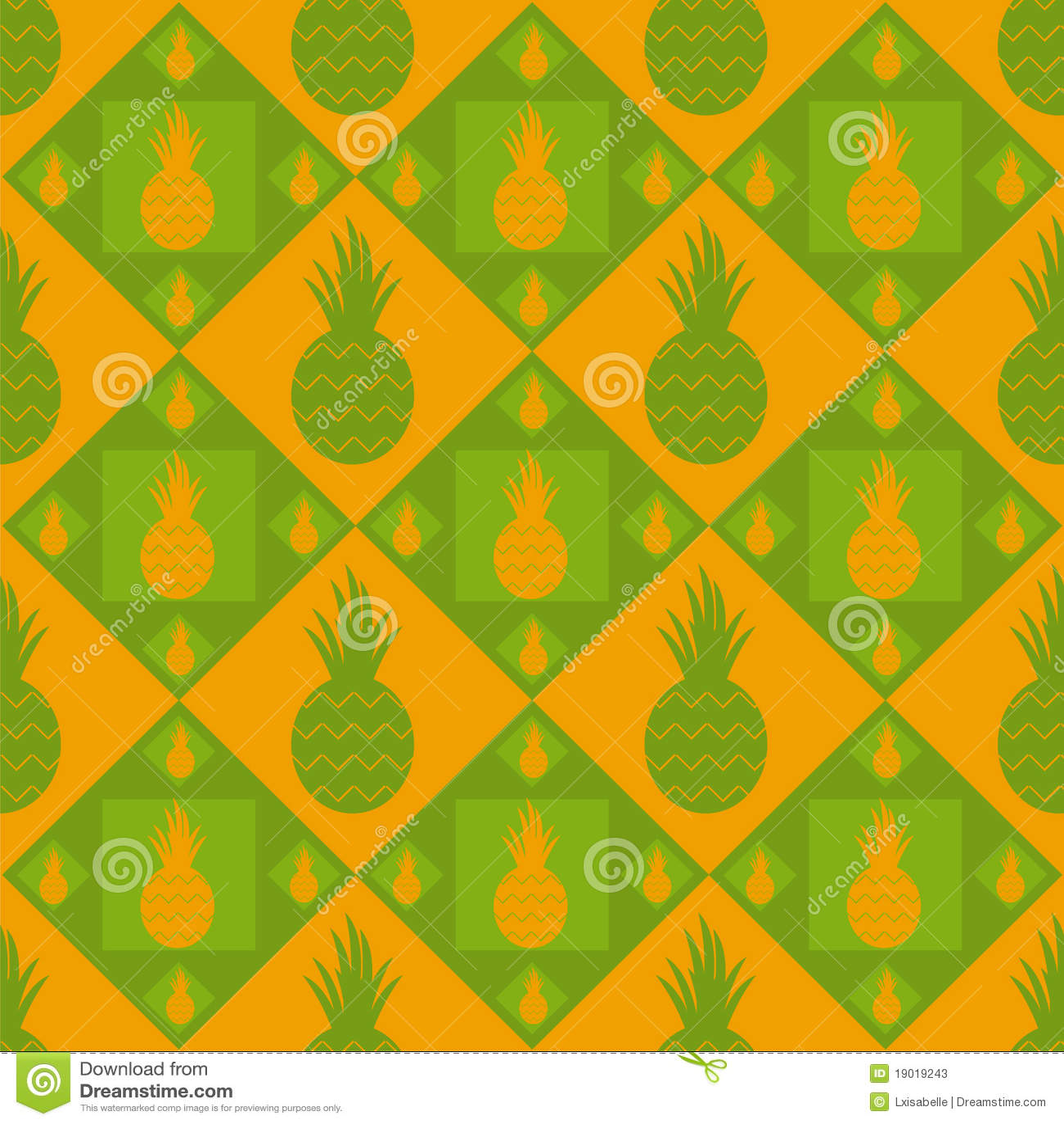 Cute Cartoon Fruit Wallpaper Cute Pineapple Pattern Stock Vector Illustration Of