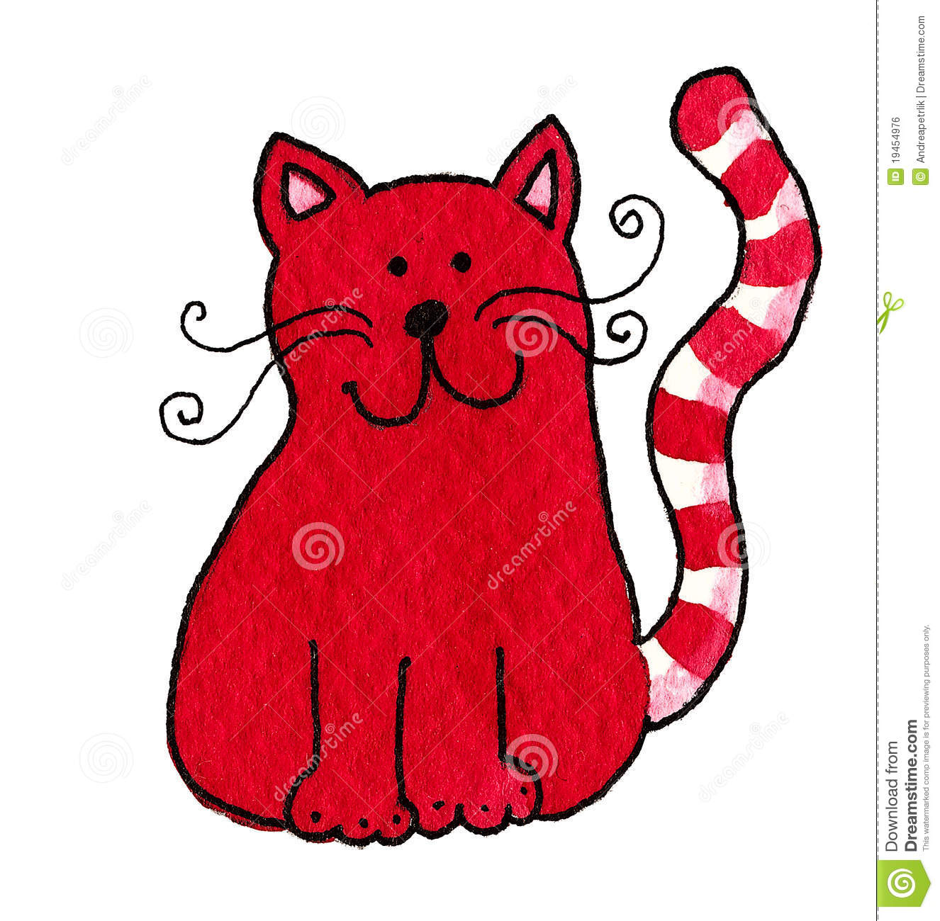 Cute Cat Girl Wallpaper Cute Red Cat Royalty Free Stock Image Image 19454976
