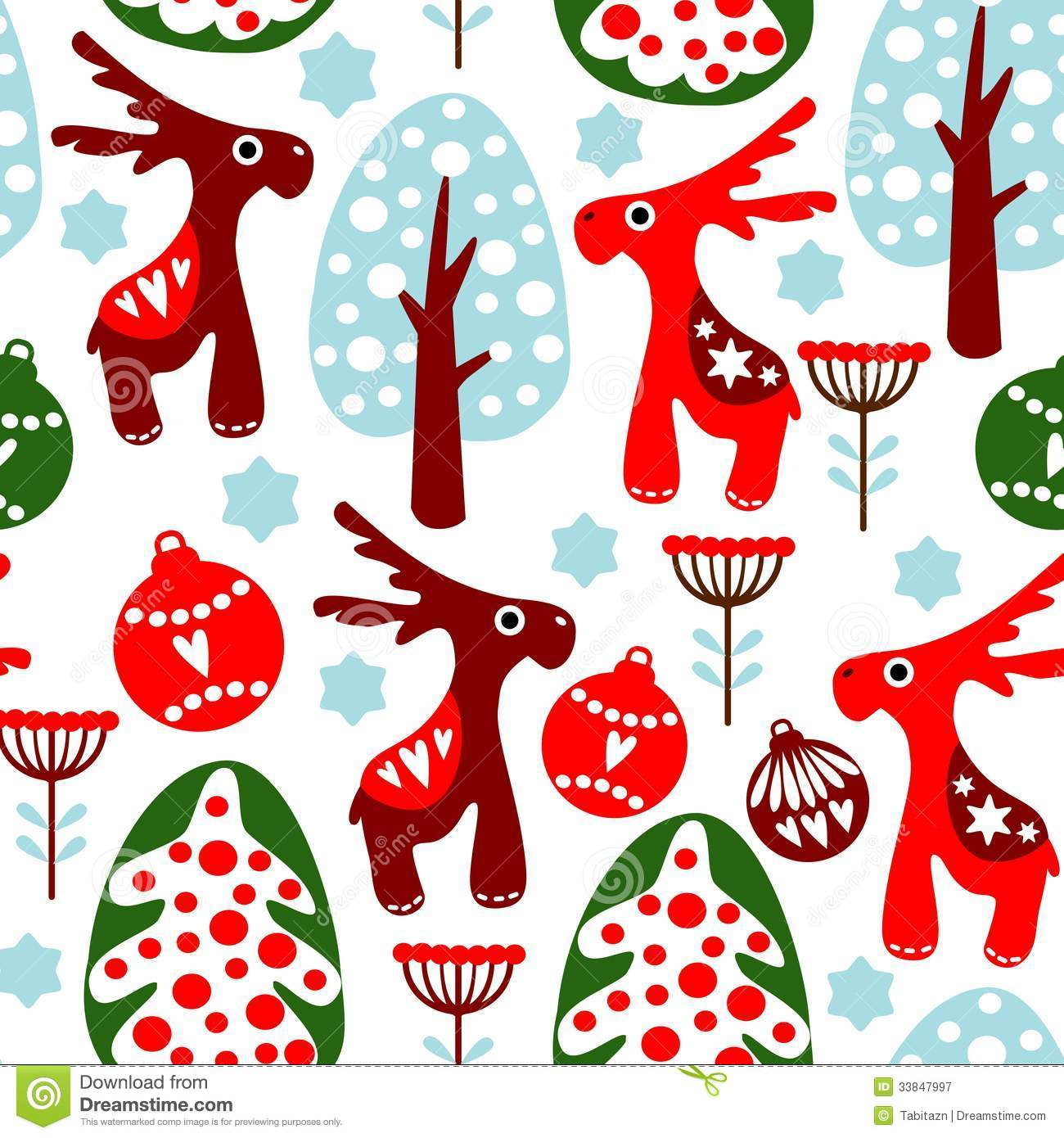 Wallpaper Cath Kidston Iphone Cute Seamless Pattern With Christmas Balls Reind Stock