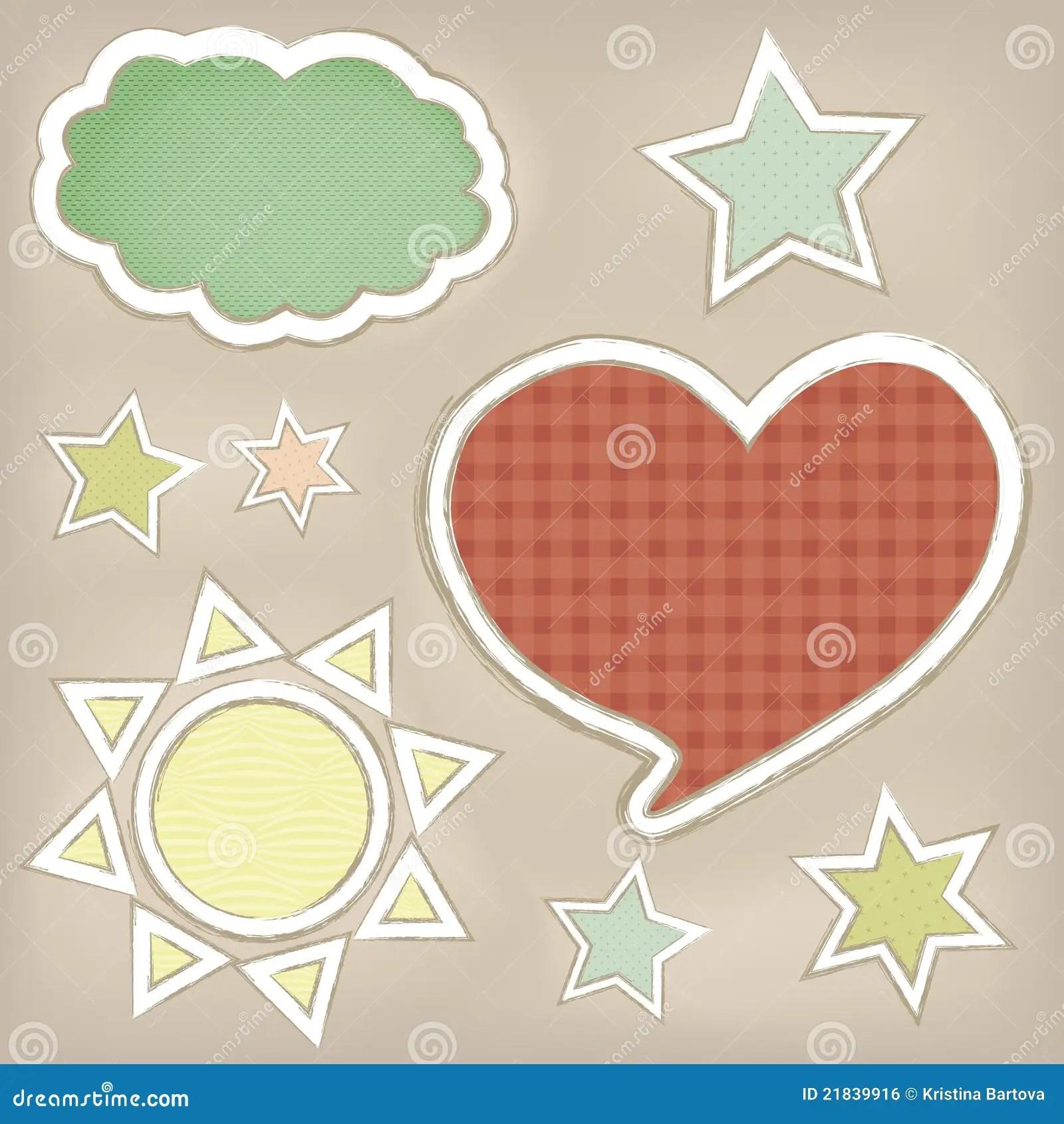 Cute Kid Love Wallpaper Cute Shapes Stock Vector Image Of Children Card Shape