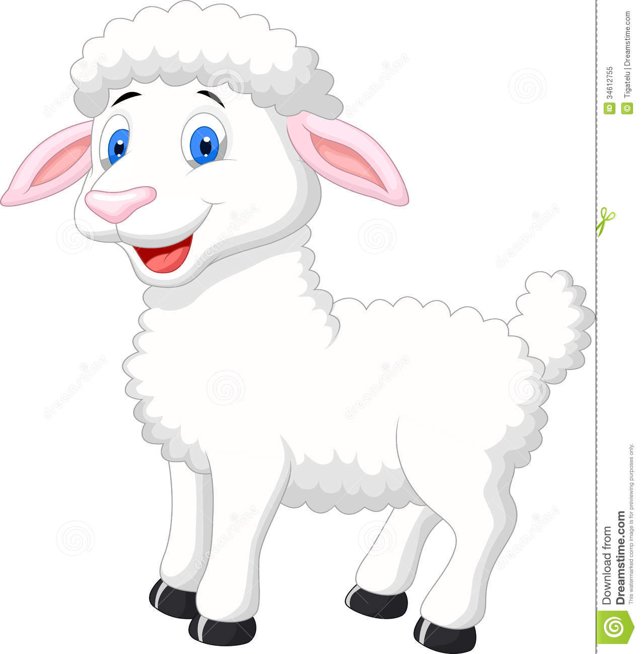 Cute Sheep Drawing Tumblr Cute Sheep Cartoon Stock Vector Illustration Of Comic