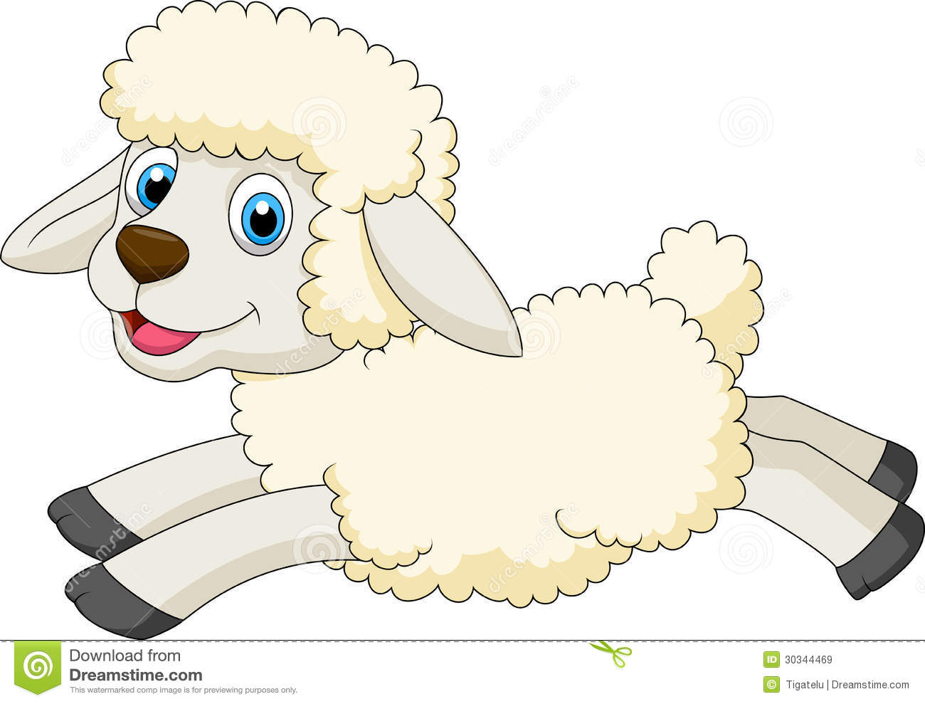 Cute Sheep Drawing Tumblr Cute Sheep Cartoon Jumping Stock Vector Illustration Of