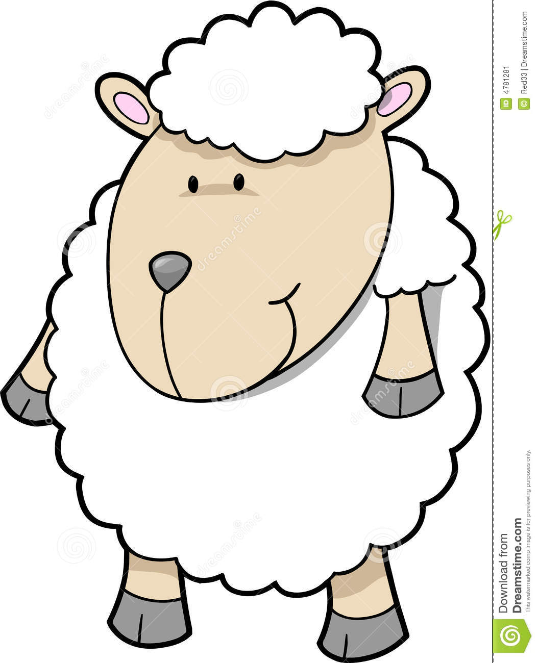 Baby Lamb Drawing Cute Sheep Vector Stock Vector Illustration Of Zoology