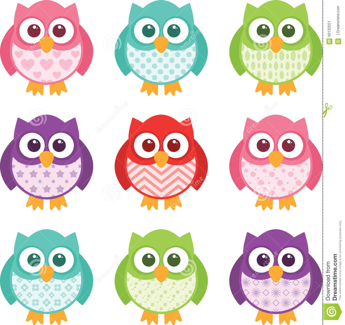 Wallpapers Fofo Cutes Cute Simple Cartoon Patterned Owls Stock Vector Image