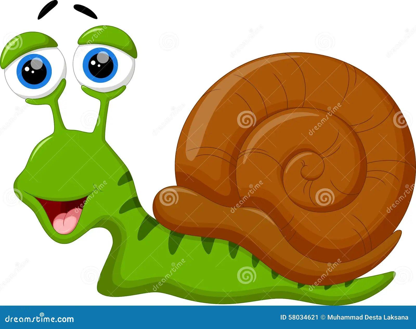 Cute snail cartoon stock illustration image 58034621