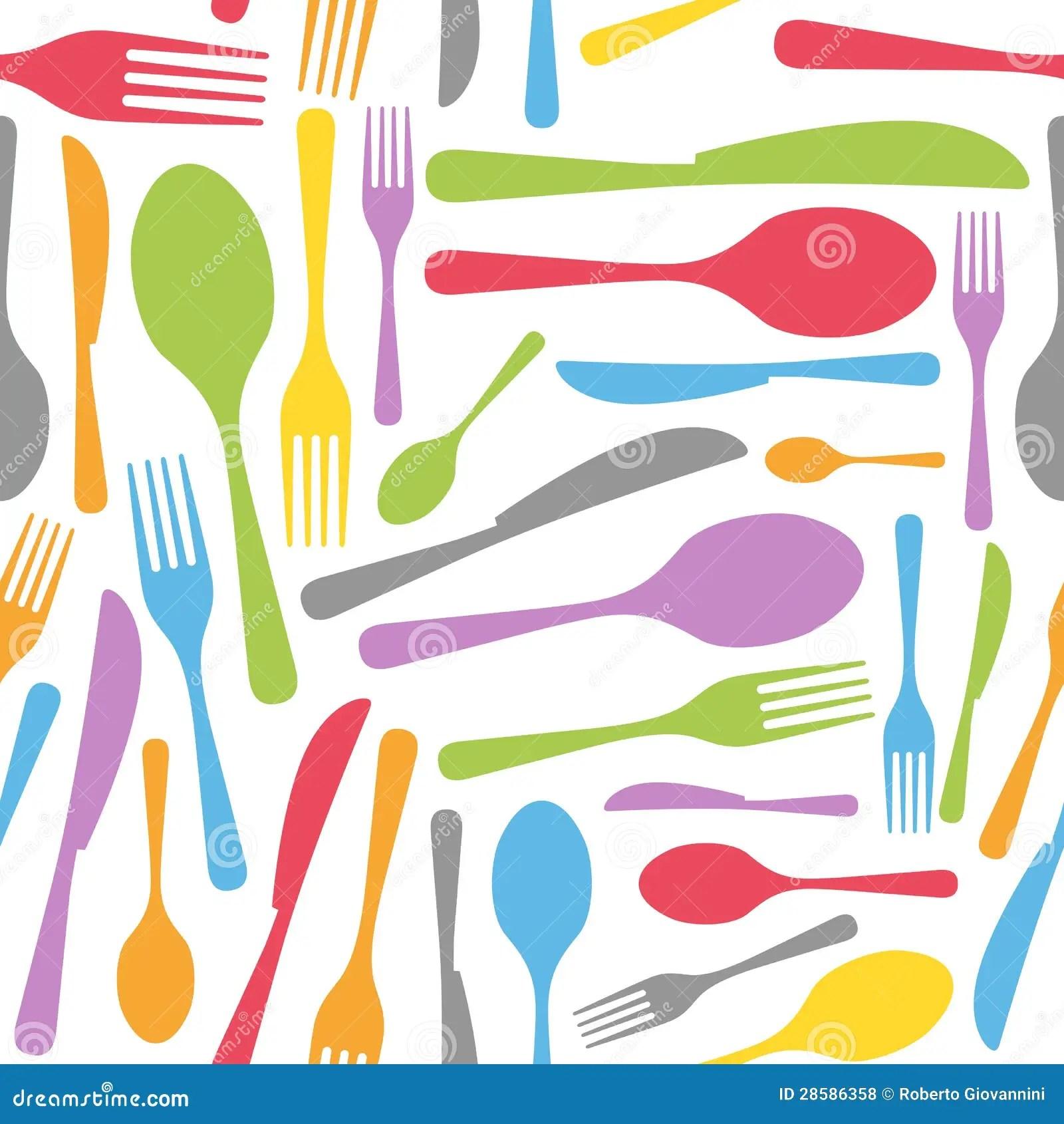 3d White Brick Wallpaper Cutlery Seamless Pattern Royalty Free Stock Photos Image