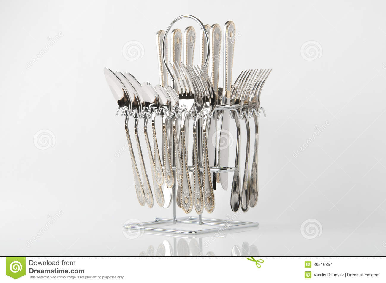 Standing Knife Flatware Cutlery Set Stock Images Image 30516854