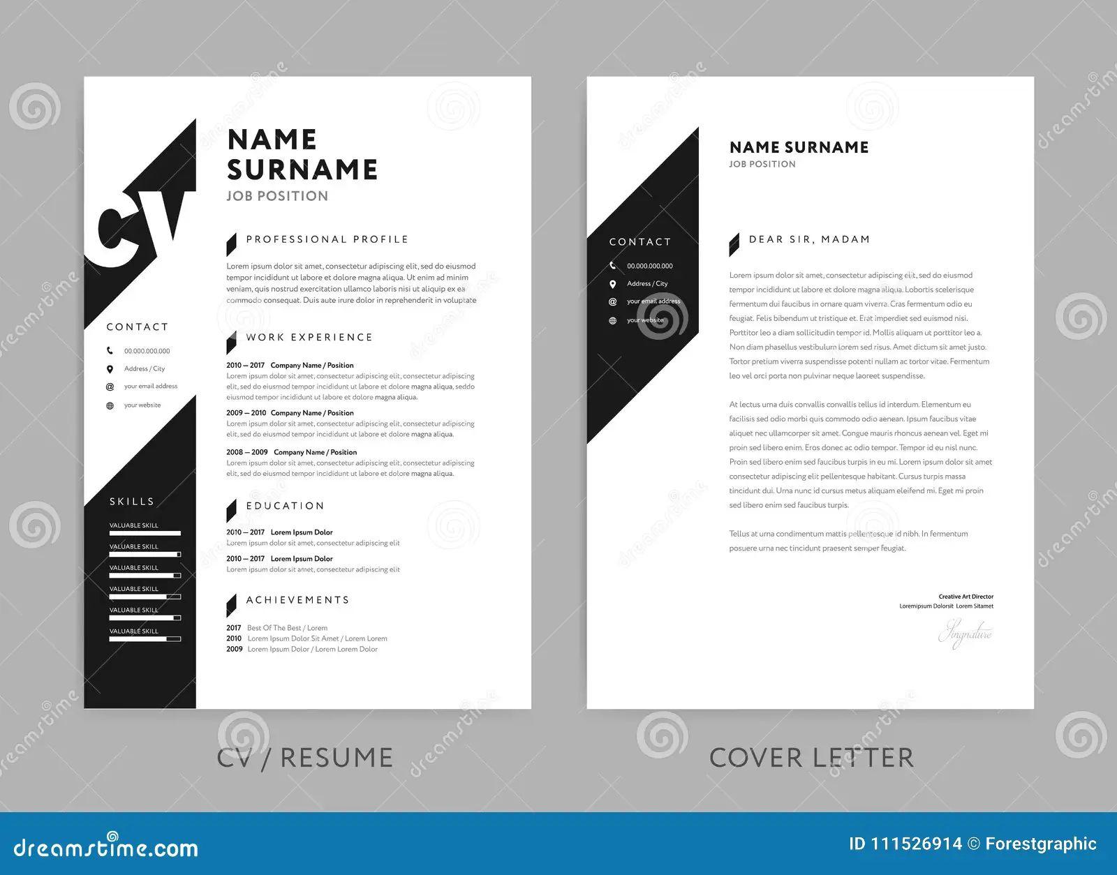 fond design noir et blanc cv