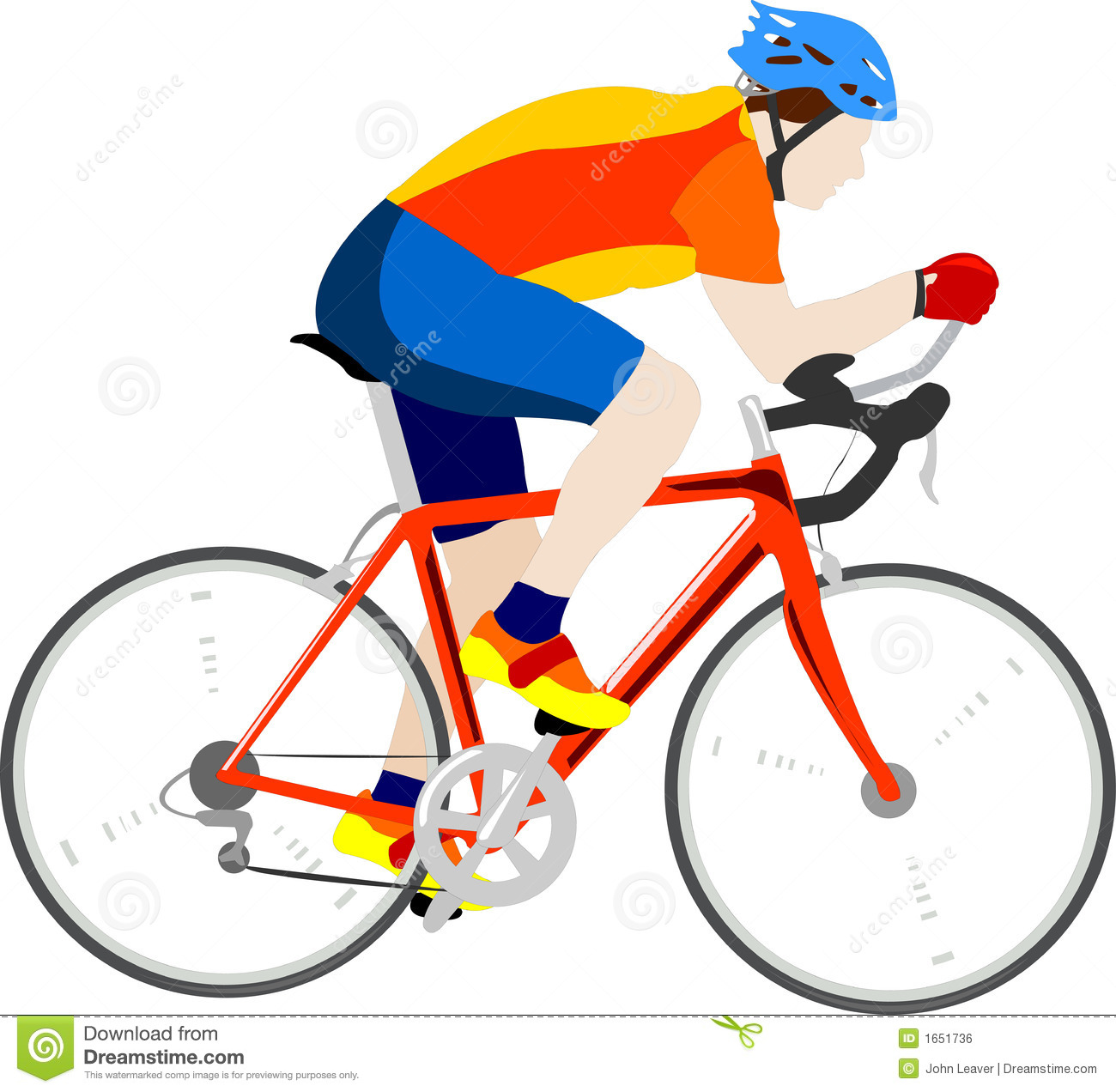 Racing Bicycle Clipart Cyclist Stock Vector Image Of Wheels Illustration