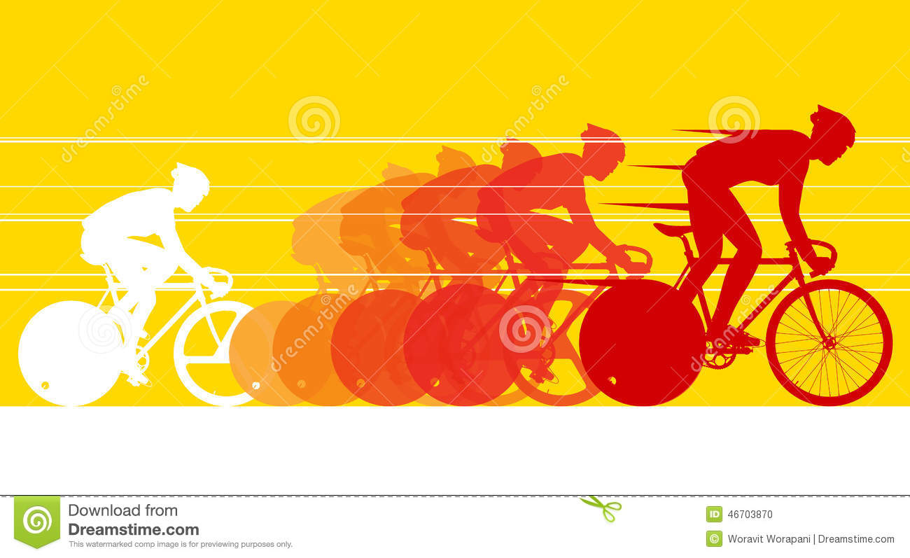 Racing Bicycle Clipart Cyclist In The Bicycle Race Stock Vector Image 46703870