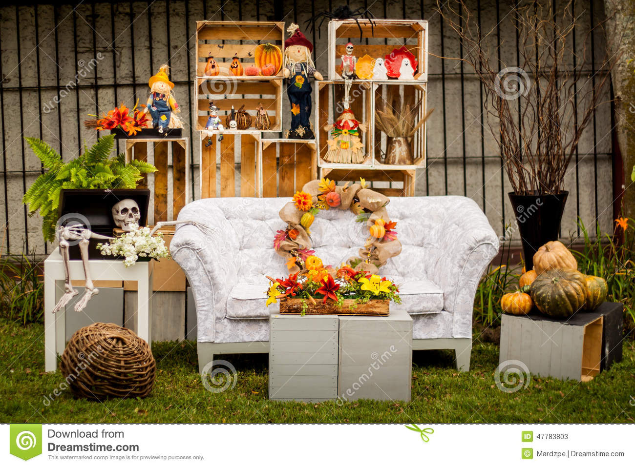 Decoration Exterieur Halloween Décor De Vintage De Décoration De Halloween Image Stock Image Du