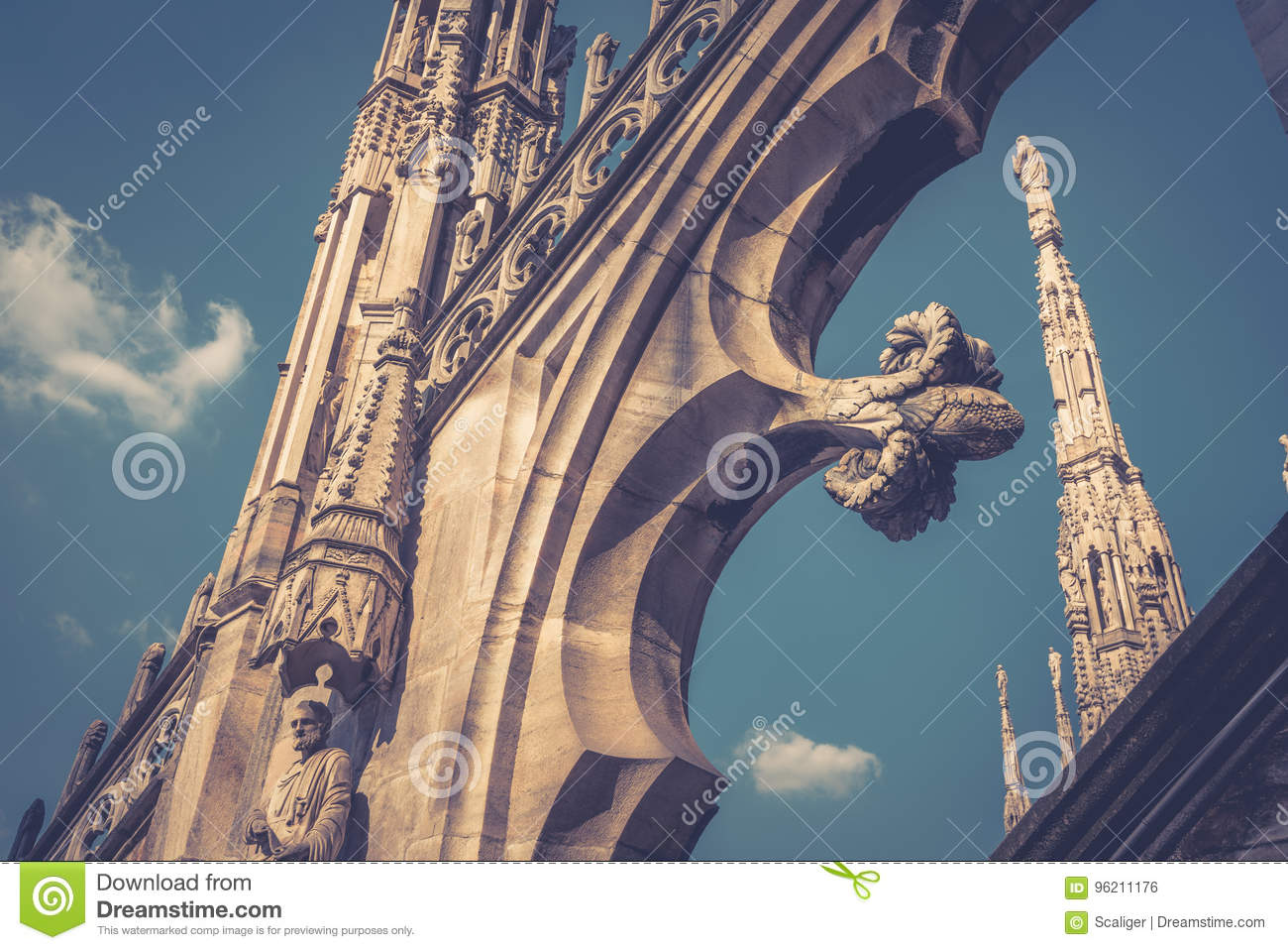 Decoration De Toit Décoration Du Toit De Milan Cathedral Photo Stock Image Du