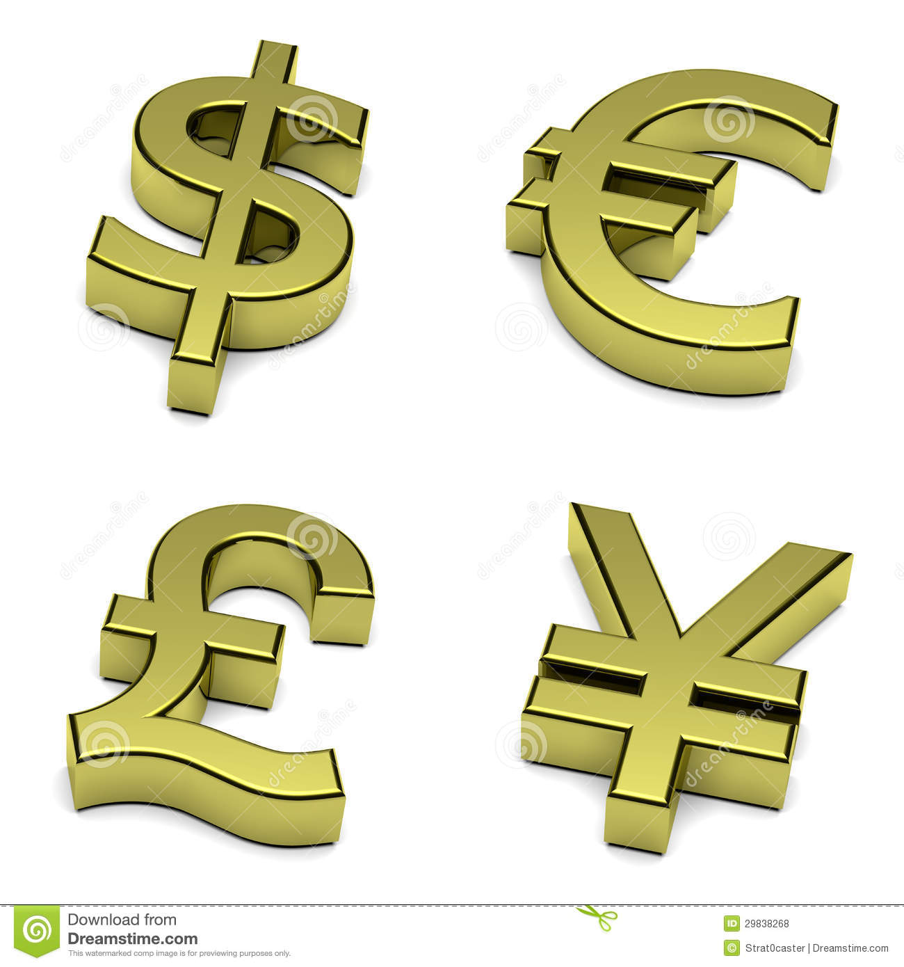 Conversion Euros A Libras 3d Dollar Euro Pound Sterling Yen Yuan Currencies