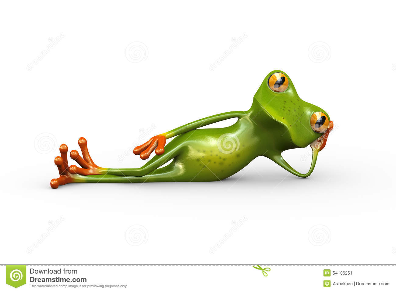Cute Funny Wallpapers For Lazy Peopke 3d Frog Stylish Lying On Floor Stock Illustration Image