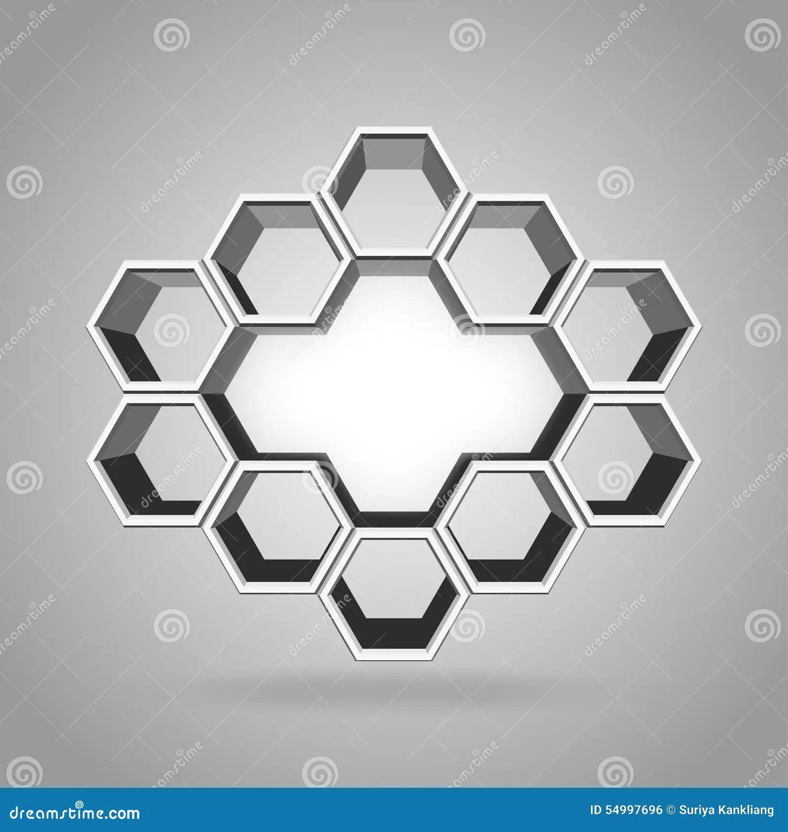 Royalty free vector hexagon pattern