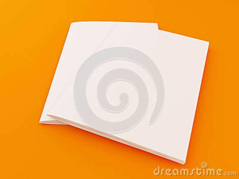 3D Illustration Of Brochure Template On Color Background Stock