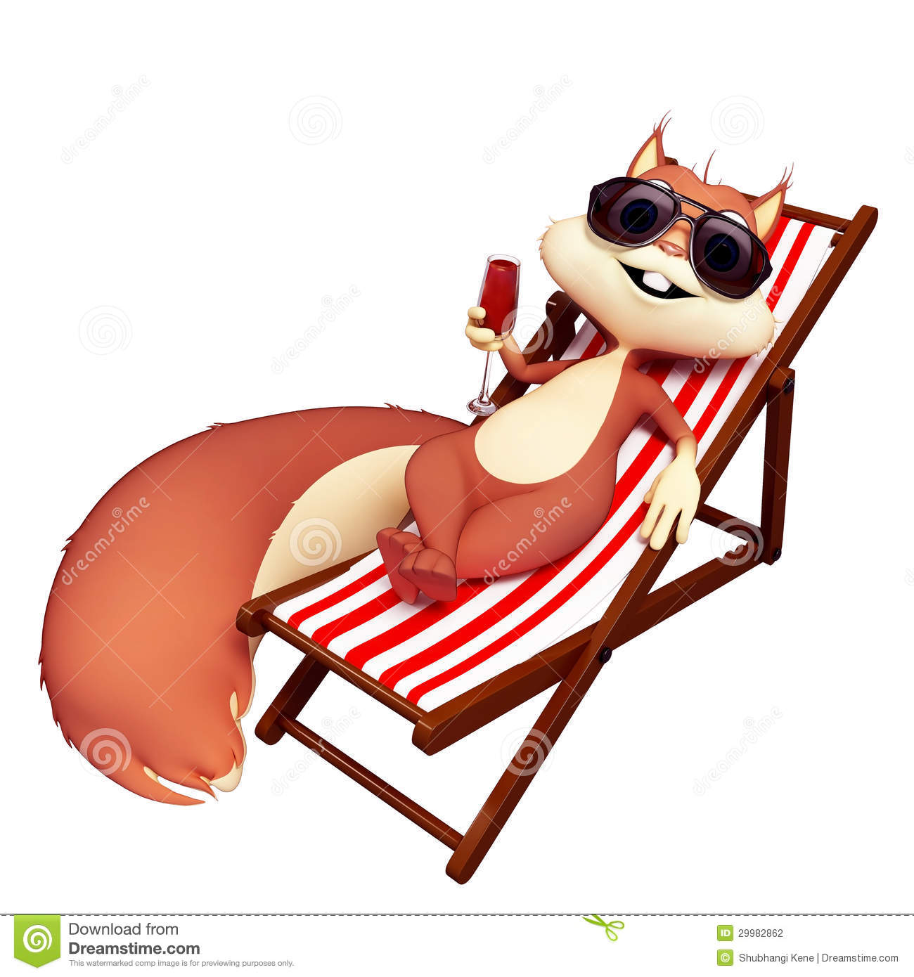 Totenkopf Sessel Squirrel Sitting On The Chair Stock Photography Image