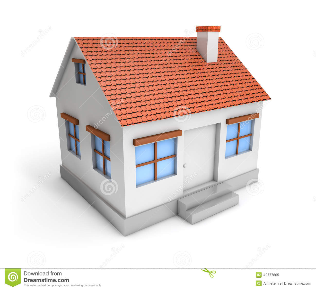 Simple House Image 3d Simple House Stock Illustration Illustration Of Icon