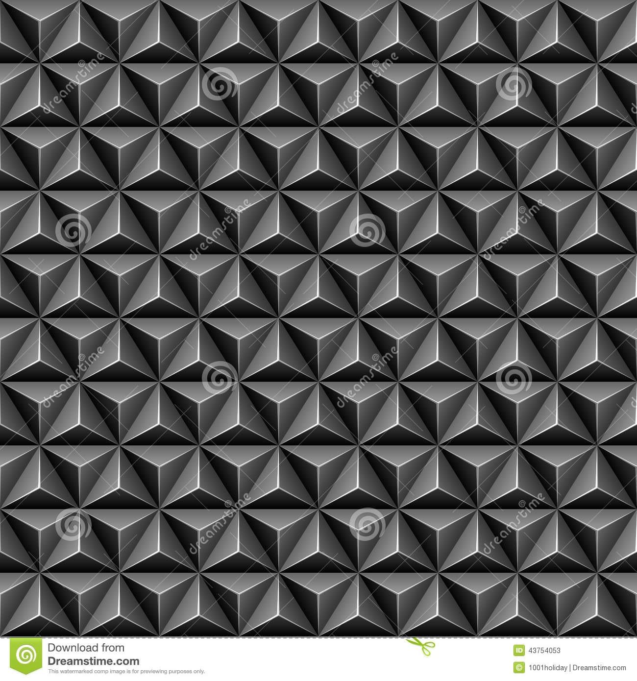 Black And White Diamond Wallpaper 3d Triangle Seamless Pattern Stock Vector Image 43754053