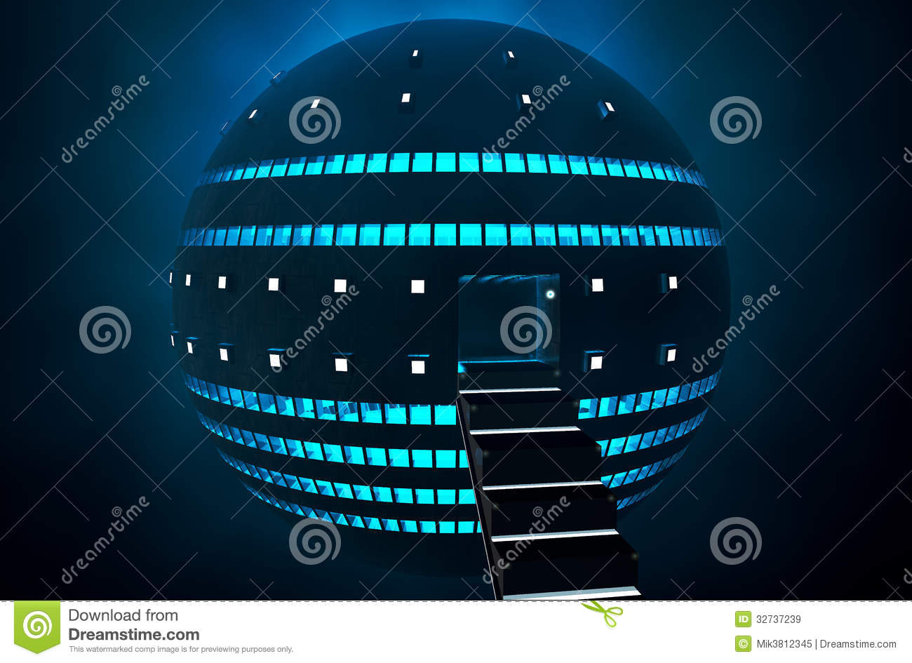 3d Liquid Abstract Wallpaper 3d Ufo Royalty Free Stock Images Image 32737239