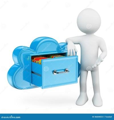 D Person File Cabinet