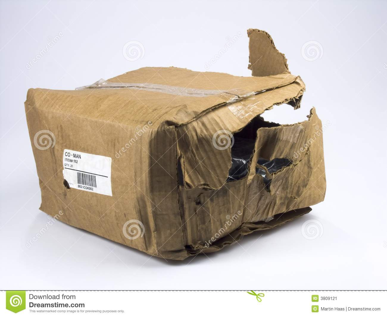 Damaged Package Stock Image Image Of Shipping Damaged 3809121 - Stockfoto Bos