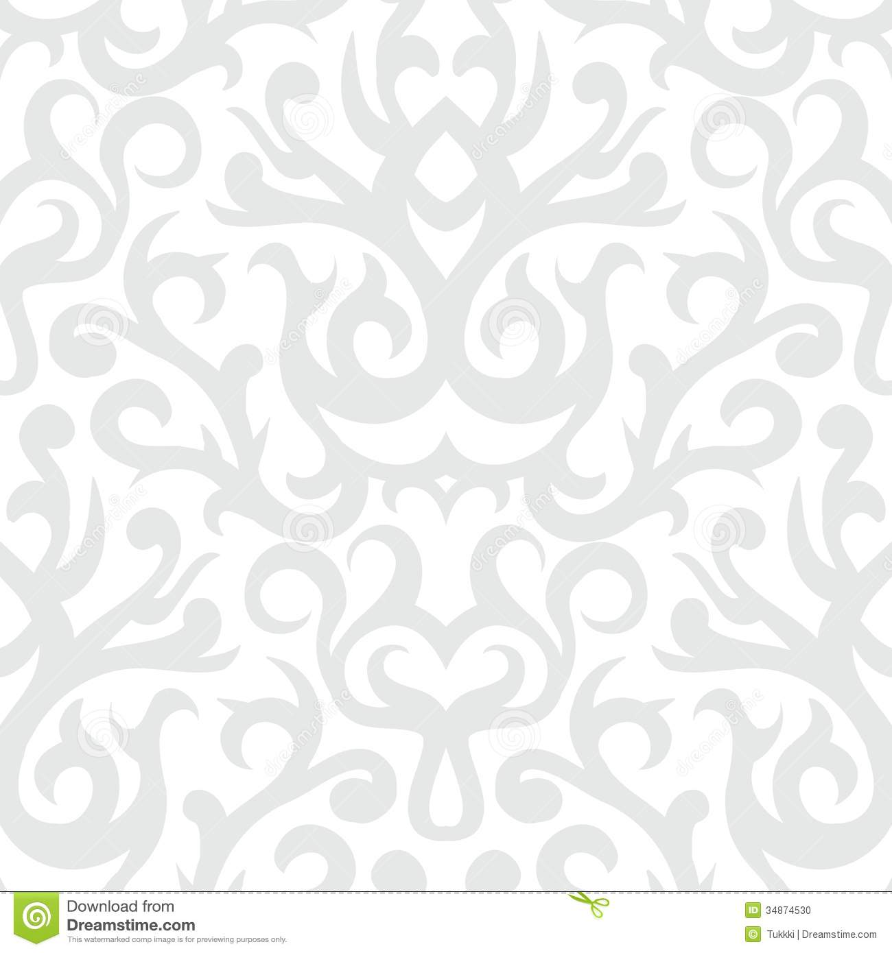 Grey And White Pattern Grey And White Damask Wallpaper