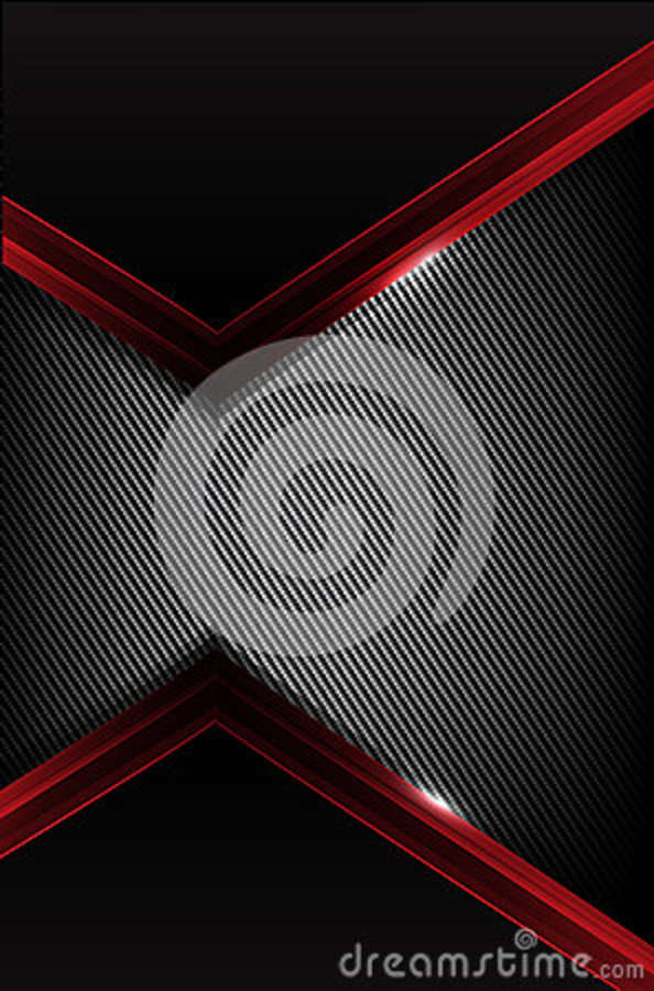 Dark Carbon Fiber And Red Overlap Element Abstract Background Vector
