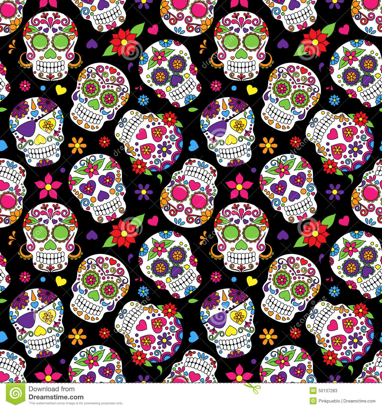 Cute Butterflies Hd Wallpapers Day Of The Dead Sugar Skull Seamless Vector Background