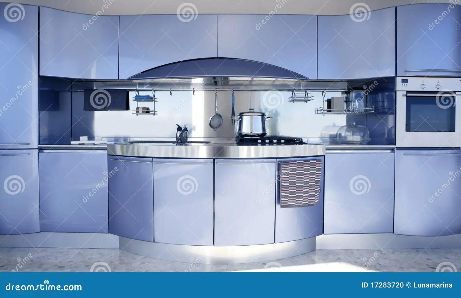 Moderne blauwe keuken landelijke keuken walhalla