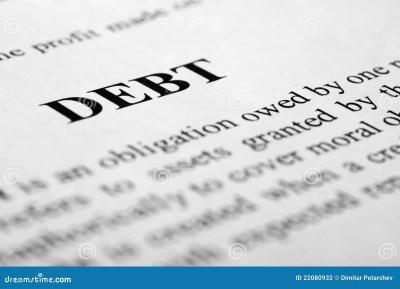 Definition Of Debt Royalty-Free Stock Photo | CartoonDealer.com #6427593