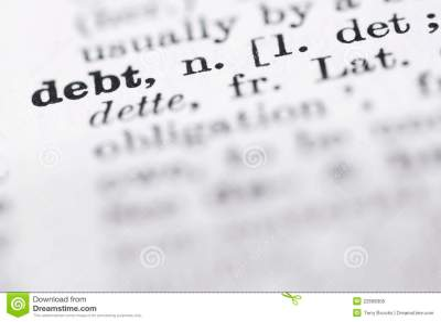 Definition Of Debt Royalty-Free Stock Photo   CartoonDealer.com #6427593