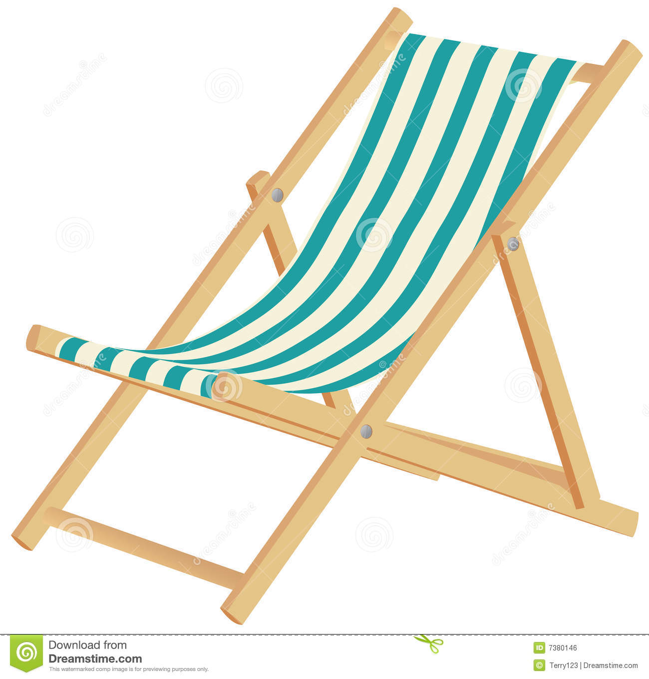 Clipart Liegestuhl Deckchair Stock Vector Illustration Of Beach