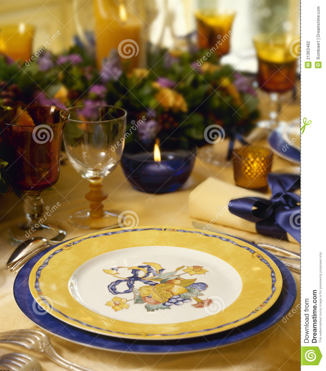 Christmas Tables Decorated Decorated Christmas Dining Table Stock Photography Image